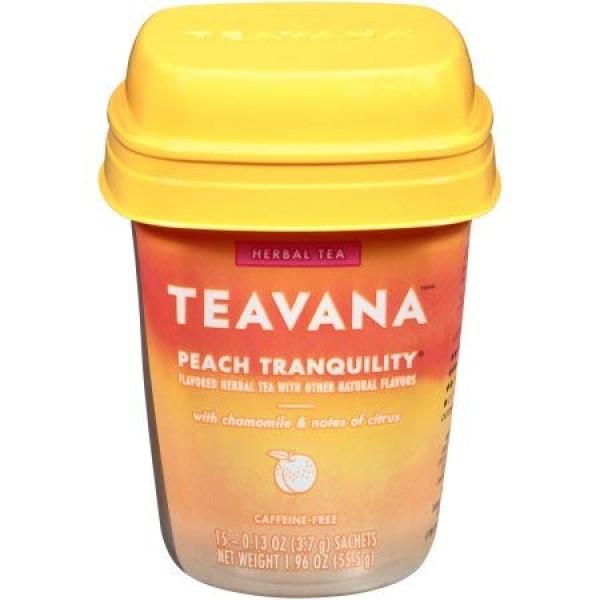 Teavana Peach Tranquility Herbal Tea, 15 Tea Bags, 1.96oz, pack ...