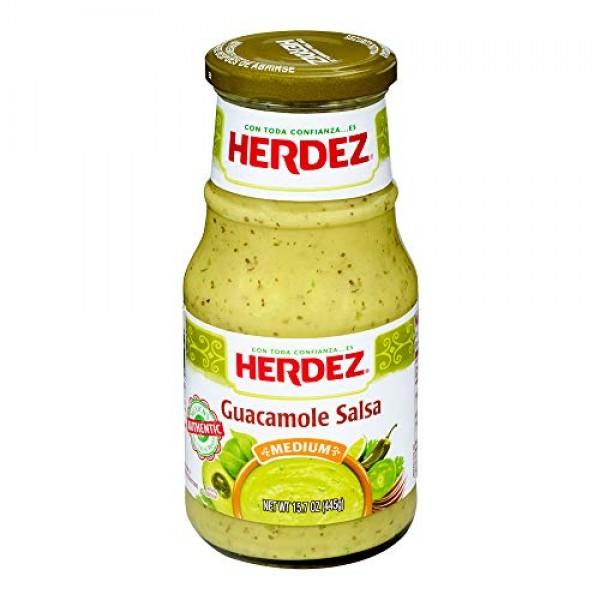 Herdez Guacamole Salsa, Medium, 15.7 oz