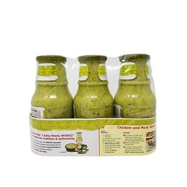 Herdez Guacamole Salsa - Medium - 3 Jars Net 4.42 LB
