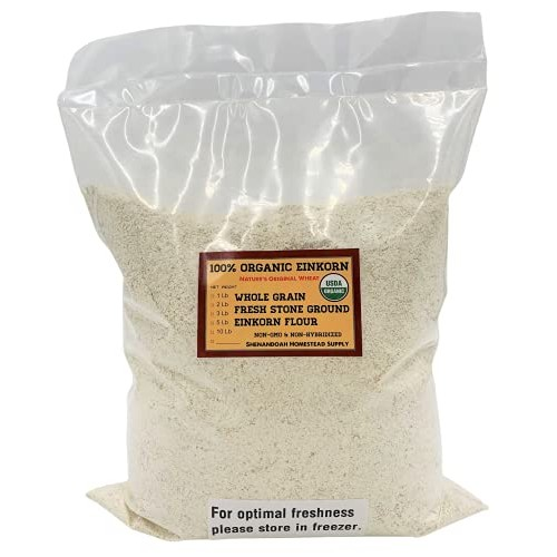 Organic Whole Grain Einkorn Flour, Fresh Stone-Ground & USA Grow...