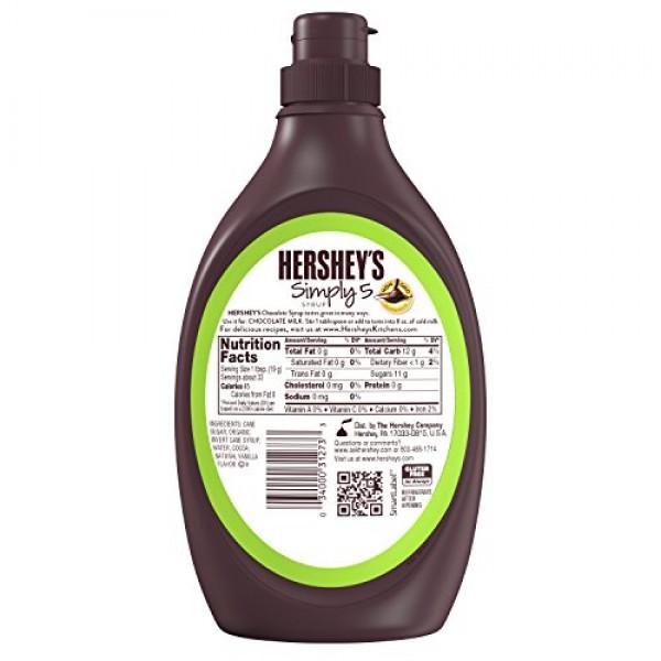 HERSHEYS Chocolate Syrup Simply 5, 21.8oz