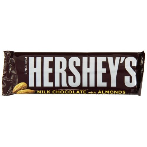 Hershey Milk Chocolate with Almonds, 1.45-Ounce Bars Pack of 36
