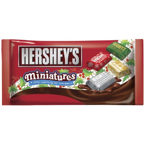 Hersheys Holiday Miniatures Assortment, 8.5-Ounce Bags Pack of 4