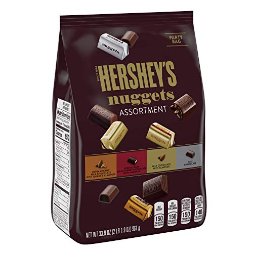 HERSHEYS Nuggets Assortment, Chocolate Candy , 33.9 Ounce Bag