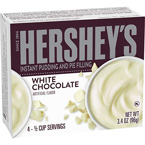 Hersheys Instant White Chocolate Pudding Mix Pack of 4