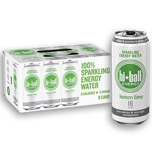 Hiball Energy Lemon Lime Sparkling Energy Water, Zero Sugar and ...