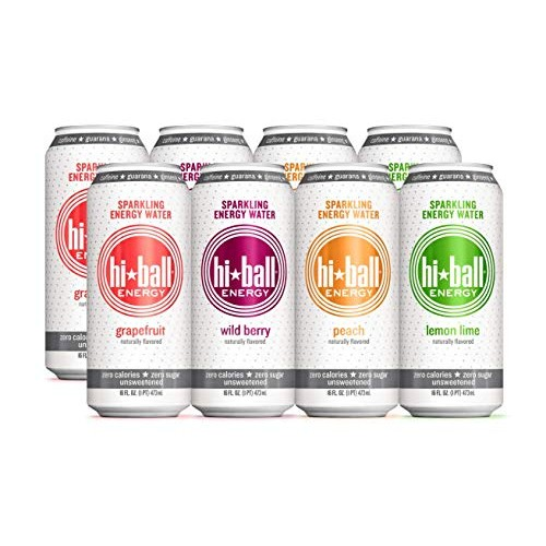 Hiball Energy Sparkling Water, Vanilla, Wild Berry, Grapefruit, ...