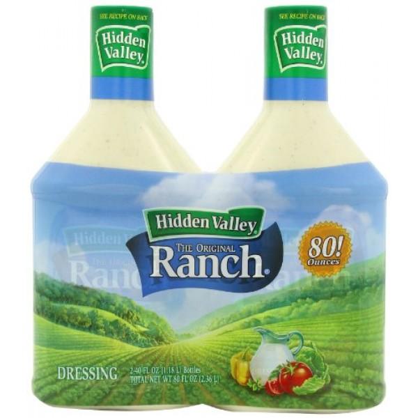 Hidden Valley The Original Ranch Dressing, Original, 2-Count Bot...