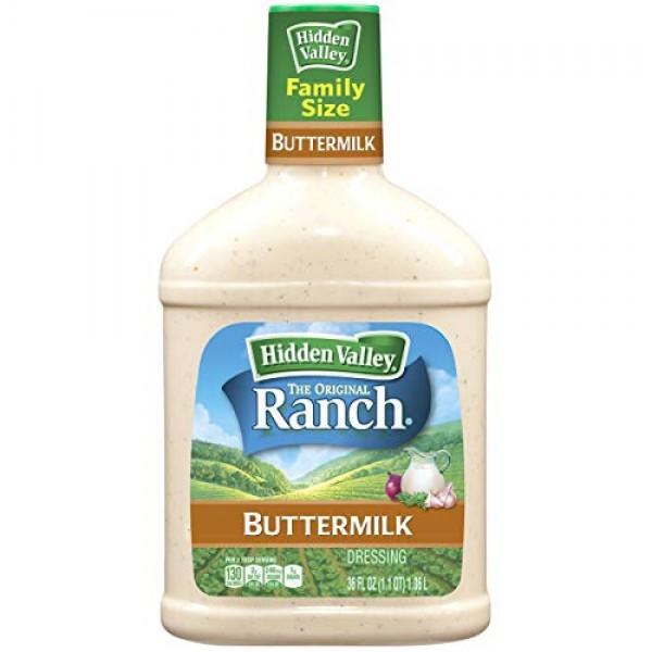 Hidden Valley Buttermilk Ranch Salad Dressing & Topping, Gluten ...