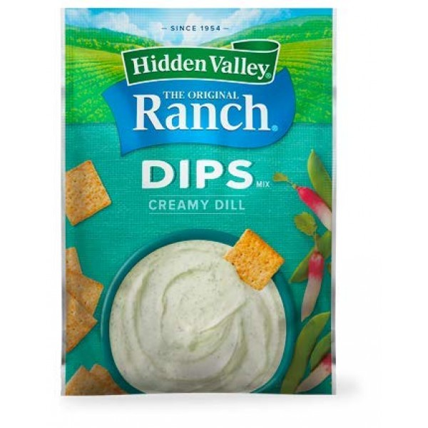 Hidden Valley Dips Mix Creamy Dill .9 oz Packets Pack of 6