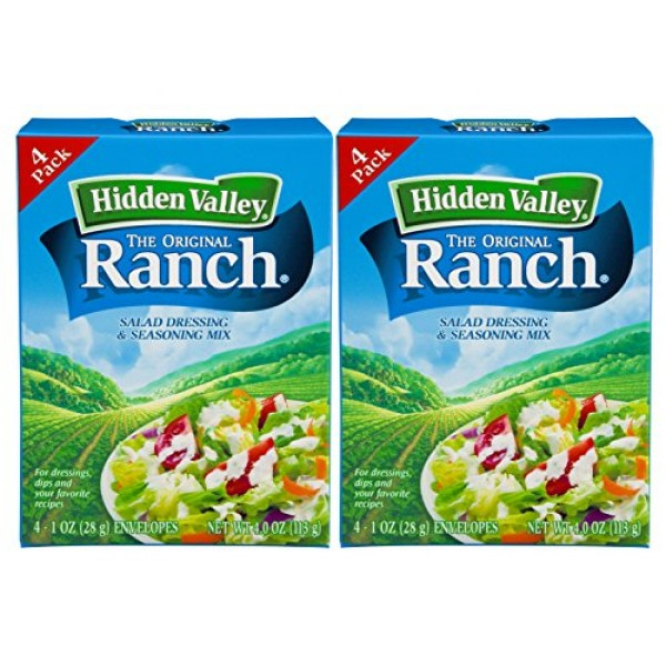 Hidden Valley Original Ranch Seasoning and Salad Dressing Mix, E...