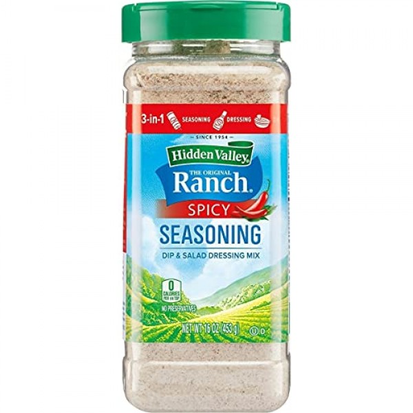 Hidden Valley Ranch Spicy Seasoning Spice Blend Dip And Salad Dr...