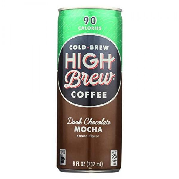 High Brew Coffee Dark Chocolate Mocha Coffee, 8 Fluid Ounce - 12...