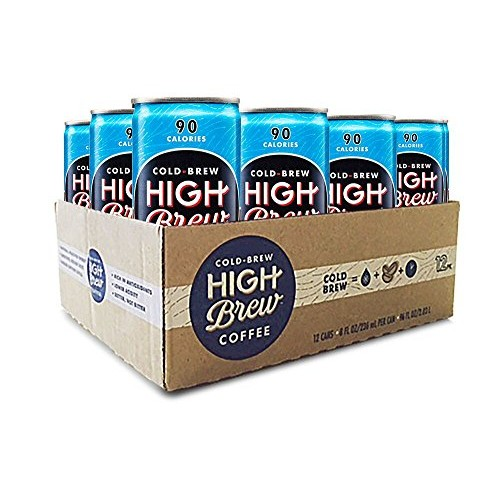 High Brew Cold Brew Coffee, Mexican Vanilla, 8 Fl Oz Can, Pack o...