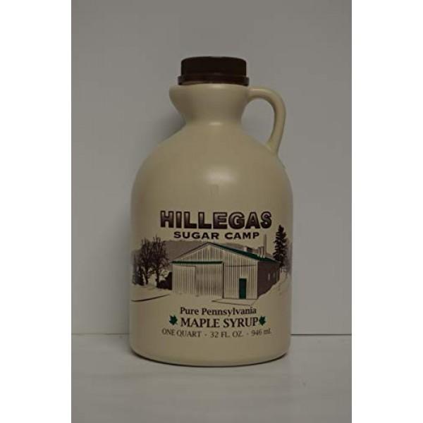 Hillegas Sugar Camp, Pure Pennsylvania Maple Syrup, 1 Quart32 F...