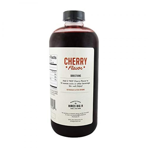 Hires Big H Cherry Syrup, Rich Cherry Syrup Great for Soda Flavo...