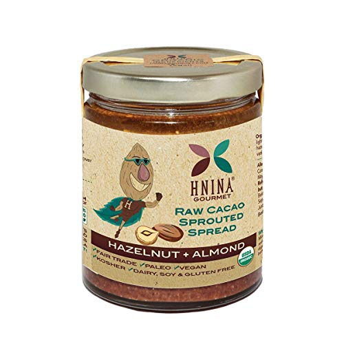 HNINA Gourmet Organic Sprouted Nuts & Raw Cacao Spread - Hazelnu...