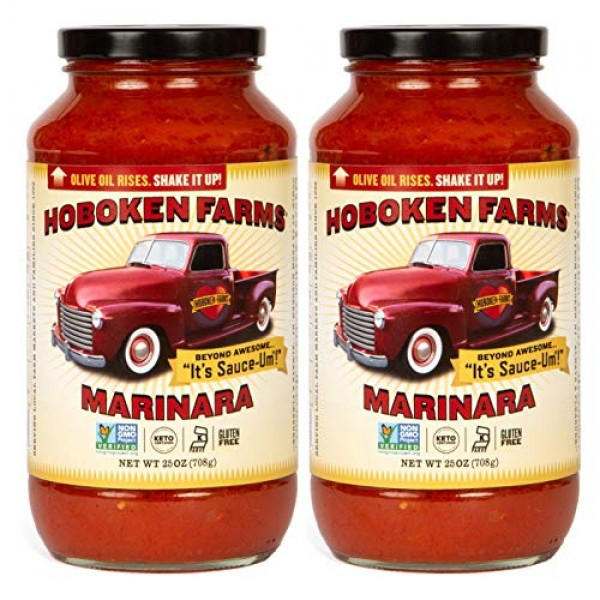 Hoboken Farms Marinara Gourmet Pasta Sauce - Keto Certified, No ...