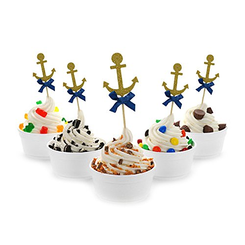 HZOnline Cupcake Toppers Nautical Theme Food Fruit Cake Picks fo...