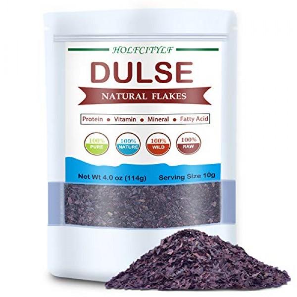 Holfcitylf Natural Dulse Flakes, 100% Pure Sea Vegetables, No GM...
