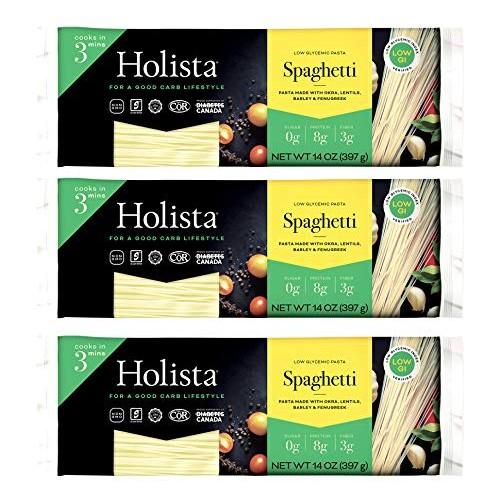 Holista Low Glycemic Spaghetti - 42oz box 3 x 14oz packs per box