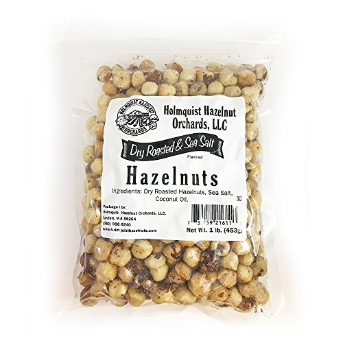 Holmquist Hazelnuts Dry Roasted Hazelnuts | Sea Salt | Skins Mos...