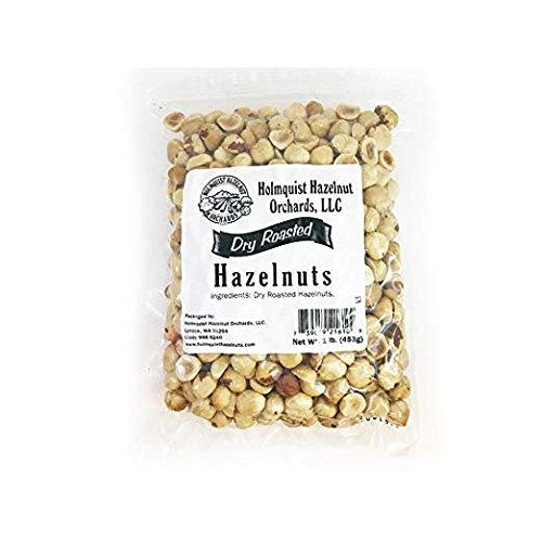 Holmquist Hazelnuts Dry Roasted Hazelnuts | Unsalted | 1 LB Bag