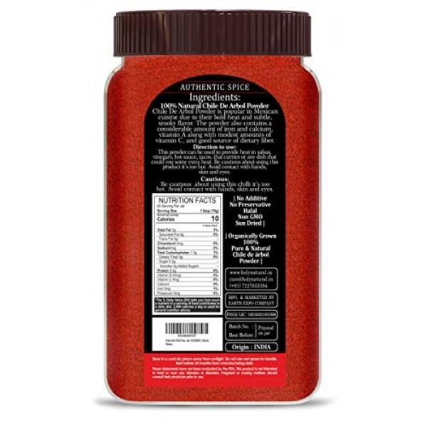 Arbol Powder-16oz 1lbs,Chile de arbol powder, S17 chili Powder...