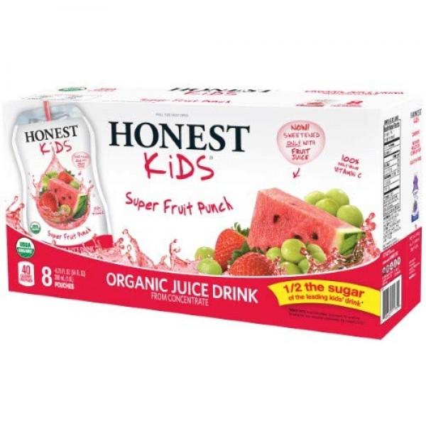 Honest - Honest Kids Organic Juice Drink Super Fruit Punch Pack...