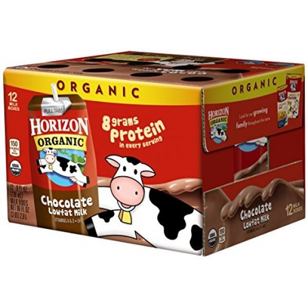 Horizon Organic Shelf-Stable 1% Lowfat Milk Boxes, Chocolate, 8 ...