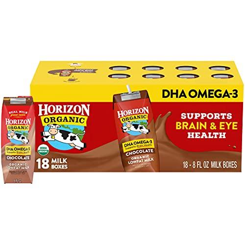 Horizon Organic, Lowfat Organic Milk Box With DHA Omega-3, Choco...