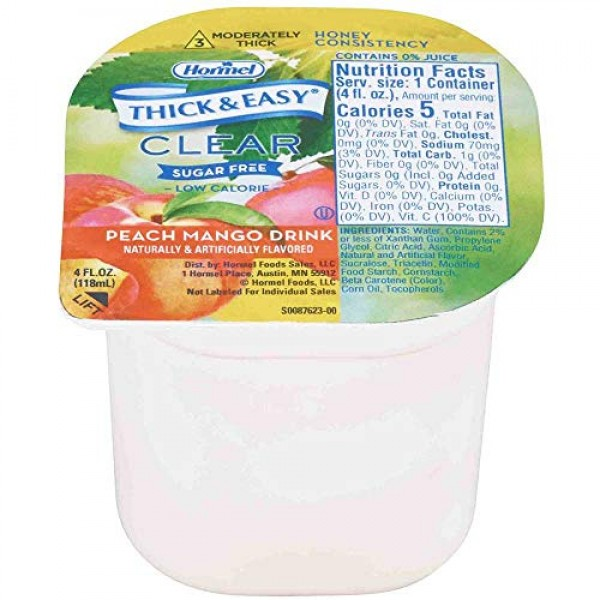 Hormel Healthlabs Thick and Easy Thickened Honey Consistency Cle...