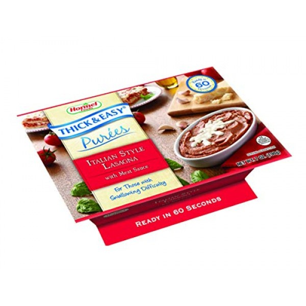 Item Number:66124 - THICK & EASY Puree Italian Style Lasagna w...