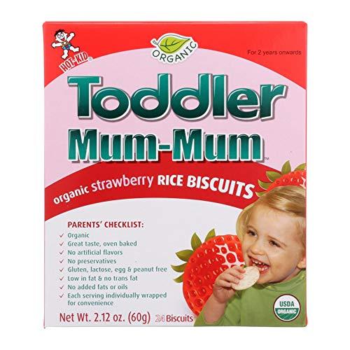 Hot Kid Toddler Mum-Mum Strawberry 6x2.12 OZ- 6 Pack