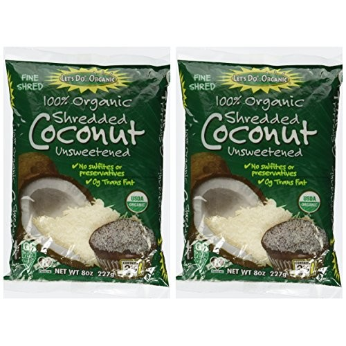 Lets Do Organic Coconut Finely Shredded Flakes Unsweetened -- 8...