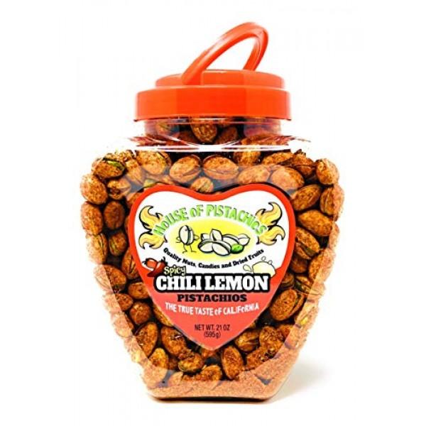 House of Pistachios Chili Lemon Pistachios - Real Flavor, Famil...