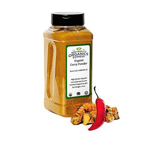 HQOExpress   Organic Curry Powder   19 oz. Chef Jar