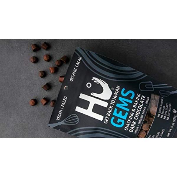 Hu Gems Chocolate Vegan Snacks   Paleo, Gluten Free Dark Chocola...