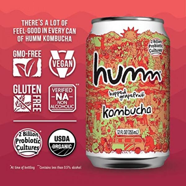 Humm Kombucha Hopped Grapefruit - 2 Billion Probiotics for Gut H...