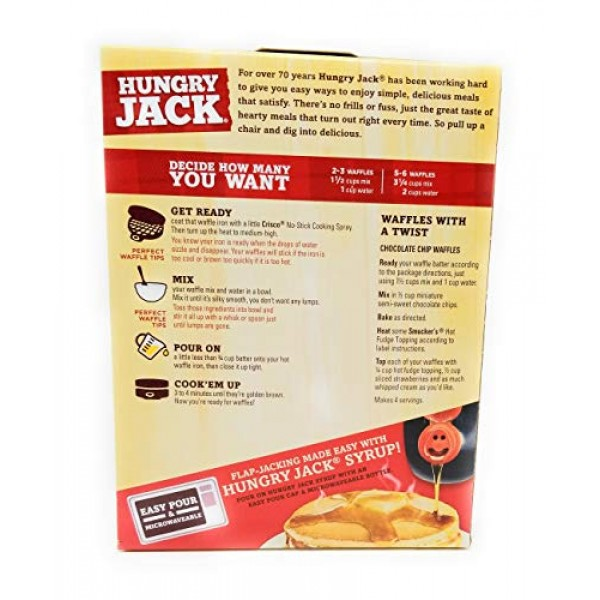 Hungry Jack Complete Belgian Waffle Mix Pack of 2