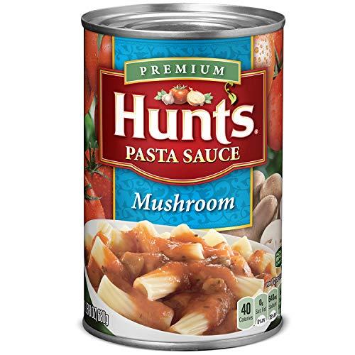 Hunts Mushroom Pasta Sauce, 24 oz, 12 Pack