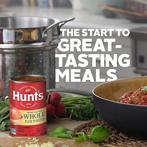 Hunts Whole Peeled Plum Tomatoes, 14.5 oz, 12 Pack