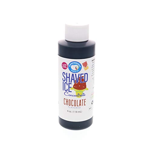 Chocolate Shaved Ice and Snow Cone Flavor Concentrate 4 Fl Ounce...