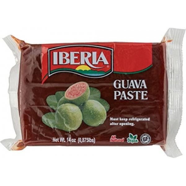 Iberia Guava Paste, 14 oz, All Natural, Vegan, Gluten Free, Hala...