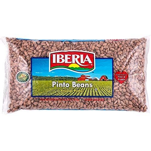 Iberia Pinto Beans 4 lb., Bulk Pinto Beans, Long Shelf Life Pint...