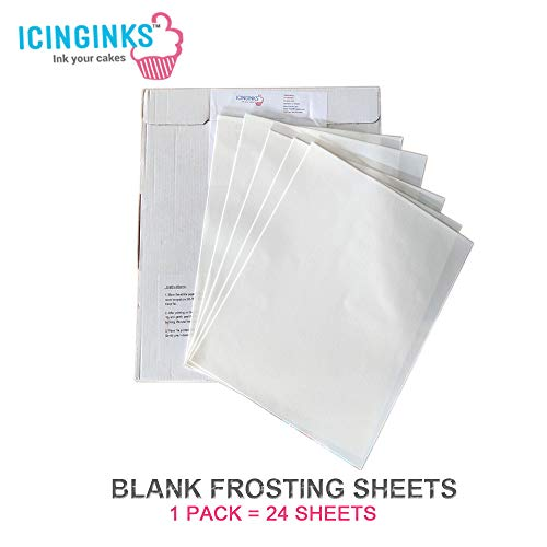 Icinginks 24 Frosting Sheets 8.5 X 11, Icing Sheets for Cake T...