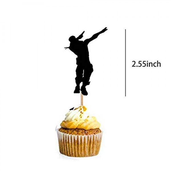 24 Pcs Cupcake toppers for Gaming Birthday Themed Party Supplies