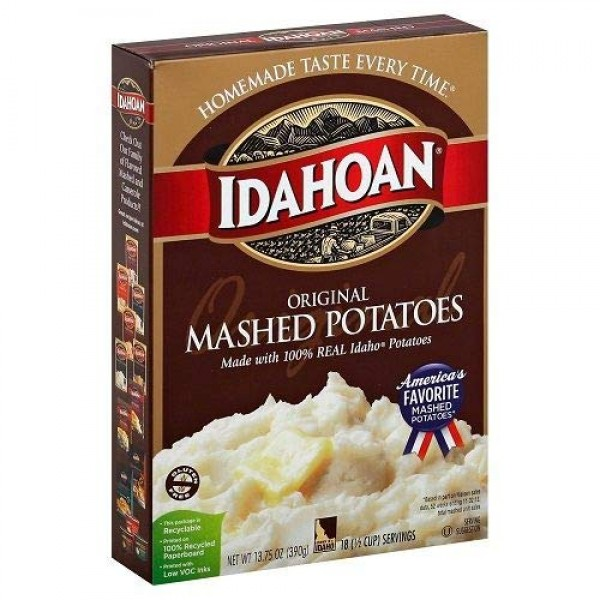 3 boxes IDAHOAN Original Mashed Potatoes; 13.75 oz per box/18 ...