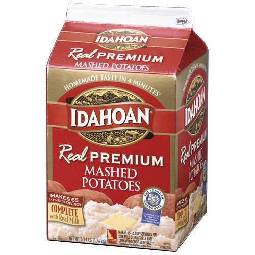 Idahoan REAL Premium Mashed Potatoes - 3.24lbs. - CASE PACK OF 4