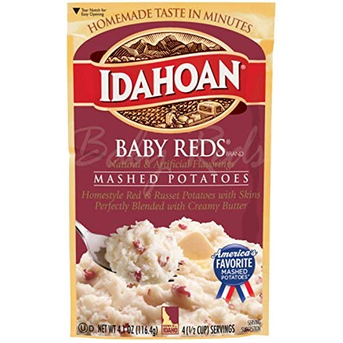 Idahoan, Mashed Potatoes, Baby Reds with Skins and Creamy Butter...